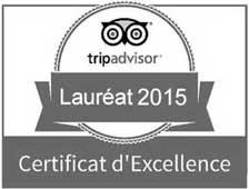 certificat-excellence-tripadvisor-2015-NB170 Organisation d'événements